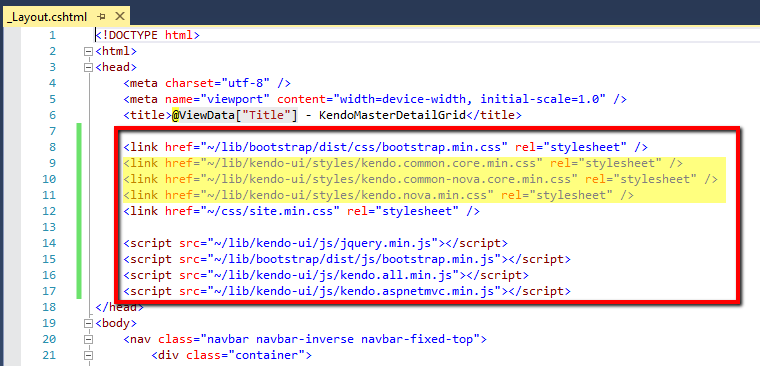Telerik Kendo UI Master Detail Grids with full edits using